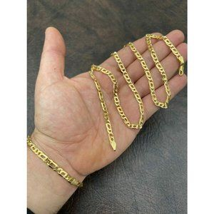 HarlemBling 14k Gold 925 Silver Chain Necklace